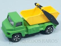 1. Brinquedos antigos - Corgi Toys-Kiko - Tipping Lorry verde com caçamba amarela Brazilian Corgi Jr Kiko Década de 1980