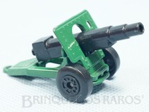 1. Brinquedos antigos - Matchbox - Inbrima - Field Gun Superfast verde folha Brazilian Matchbox Inbrima