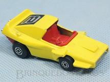 1. Brinquedos antigos - Matchbox - Woosh-N-Push Superfast amarelo Number 2 Label