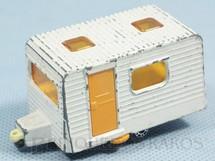 1. Brinquedos antigos - Matchbox - Inbrima - Trailer Caravan Superfast Brazilian Matchbox Inbrima branco 1970