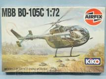 1. Brinquedos antigos - Airfix - Helicóptero MBB BO-105C Caixa Lacrada Década de 1970