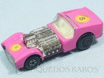 1. Brinquedos antigos - Matchbox - Inbrima - Road Dragster Superfast Inbrima cor de rosa Brazilian Matchbox Década de 1970