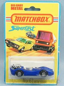 1. Brinquedos antigos - Matchbox - Blue Shark Superfast Blister lacrado Década de 1970