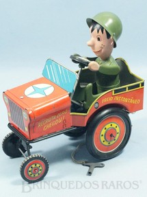 1. Brinquedos antigos - Estrela - Jeep Willys Recruta Zero Chegou Ano 1971