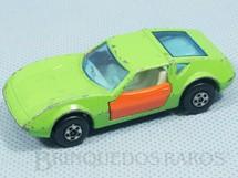 1. Brinquedos antigos - Matchbox - Inbrima - Monteverdi Hai Superfast verde com portas laranja Brazilian Matchbox Inbrima 1970