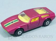 1. Brinquedos antigos - Matchbox - Maserati Bora Superfast vermelho metálico number 8 label
