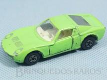 1. Brinquedos antigos - Matchbox - Inbrima - Lamborghini Miura Superfast verde Brazilian Matchbox Inbrima 1970