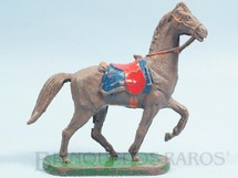 1. Brinquedos antigos - Casablanca e Gulliver - Cavalo de Cowboy marrom Série Planície Selvagem Década de 1970