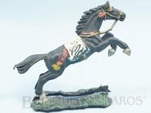 1. Brinquedos antigos - Casablanca e Gulliver - Cavalo índio preto saltando Base dividida Década de 1970