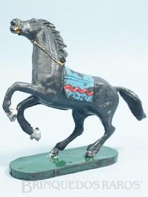 Brinquedos Antigos - Casablanca e Gulliver - Cavalo �ndio preto Empinando S�rie Forte Arizona D�cada de 1970