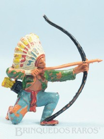 1. Brinquedos antigos - Casablanca e Gulliver - Chefe índio ajoelhado atirando com arco Década de 1970