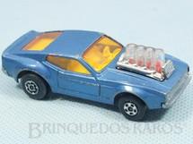 1. Brinquedos antigos - Matchbox - Inbrima - Mustang Piston Popper azul claro Rola-Matics Brazilian Matchbox Inbrima 1970