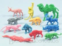 1. Brinquedos antigos - Jofer - Conjunto com 12 animais selvagens Década de 1970