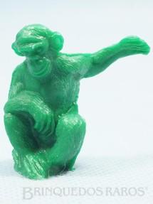 1. Brinquedos antigos - Casablanca e Gulliver - Chipanzé de plástico verde Série Zoológico Década de 1970