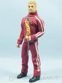 1. Brinquedos antigos - Estrela - Boneco Falcon Série Olhos de Águia loiro com barba completo com 3 Itens Edição 1979