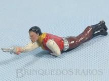 1. Brinquedos antigos - Casablanca e Gulliver - Cowboy Deitado atirando com revolver Casablanca numerado 118