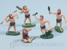 1. Brinquedos antigos - Marx - Conjunto de cinco figuras da Pré História com 4,00 cm de altura Década de 1960