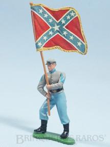 1. Brinquedos antigos - Britains - Soldado Confederado a pé com Bandeira Década de 1960