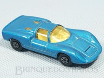 1. Brinquedos antigos - Matchbox - Inbrima - Porsche 910 Superfast azul metálico Brazilian Matchbox Inbrima 1970