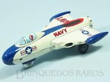 1. Brinquedos antigos - Linemar Toys - Avião a Jato com 19,00 cm de comprimento Década de 1960