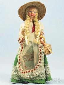 1. Brinquedos antigos - Sem identificação - Boneca com traje típico de Firenze 19,00 cm de altura Década de 1960