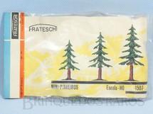 1. Brinquedos antigos - Frateschi - Mini-Pinheiros Escala HO Década de 1960