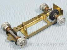 1. Brinquedos antigos - Estrela - Chassi Regulável de latão para carro Chaparral Completo com Cubos Eixos e Coroa Década de 1960