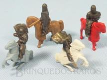 1. Brinquedos antigos - Sem identificação - Soldados Medievais a cavalo Kinder Ovo Preço por unidade
