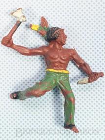 Brinquedos Antigos - Casablanca e Gulliver - Indio escalando a pali�ada com faca e machado