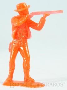 1. Brinquedos antigos - Estrela - Cowboy a pé atirando com rifle Conjunto Grand Canyon Ano 1985