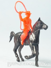 1. Brinquedos antigos - Estrela - Cowboy montado a cavalo com laço Conjunto Grand Canyon Ano 1985