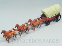 1. Brinquedos antigos - Casablanca e Gulliver - Carroça Coberta com 6 cavalos e Toldo verde claro Gulliver primeira série Década de 1960