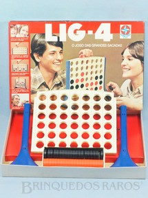 1. Brinquedos antigos - Estrela - Jogo Lig-4 O Jogo das Grandes Sacadas Década de 1970