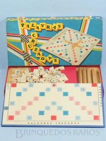 1. Brinquedos antigos - Estrela - Jogo Palavras Cruzadas completo com 120 pedras de madeira Ano 1969