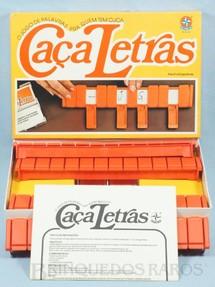 1. Brinquedos antigos - Estrela - Jogo Caça Letras completo Década de 1970