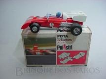 1. Brinquedos antigos - Politoys e Polistil - Ferrari 312 B formula 1 piloto Mario Andretti Polistil Década de 1970