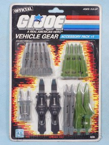 1. Brinquedos antigos - Hasbro - Accessory Pack number 1 Vehicle Gear completo Blister lacrado Ano 1986