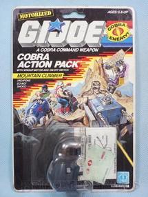 1. Brinquedos antigos - Hasbro - Action Pack Cobra Mountain Climber completo Blister lacrado Ano 1987