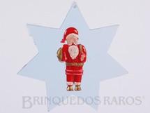 1. Brinquedos antigos - Mueller e Cia - Adorno de Natal com Papai Noel e Estrela 10,00 cm de altura Década de 1960