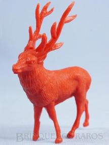 1. Brinquedos antigos - Casablanca e Gulliver - Alce de plástico vermelho Série Zoológico Década de 1970