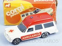 1. Brinquedos antigos - Corgi Toys-Kiko - Ambulância Mercedes Benz 2.200 Binz Ambulance Brazilian Corgi Jr Kiko Década de 1980