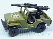 Brinquedos Antigos - Matchbox - Armoured Jeep Willys com canhão Superfast verde oliva