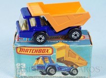 1. Brinquedos antigos - Matchbox - Atlas Truck Superfast azul metálico