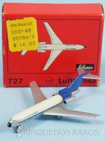 1. Brinquedos antigos - Schuco - Avião Boeing 727 Lufthansa numerado 784/2 com 6,00 cm de envergadura Década de 1960