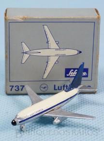 1. Brinquedos antigos - Schuco - Avião Boeing 737 Lufthansa numerado 784/1 com 5,00 cm de envergadura Década de 1960