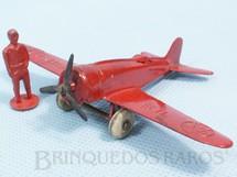 1. Brinquedos antigos - Tootsietoy - Avião com 10,00 cm de envergadura e Piloto Década de 1940