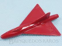Brinquedos Antigos - Sem identificação - Avião Convair F2Y Sea Dart com 4,50 cm de envergadura Brinde dos Sucrilhos Kelloggs Década de 1960