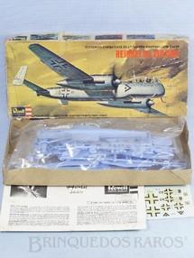 1. Brinquedos antigos - Revell - Avião Heinkel He 219 OWL completo caixa mole Década de 1970