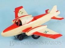 1. Brinquedos antigos - Estrela - Avião Esquadrilha da Fumaça com faíscas 19,00 cm de envergadura Ano 1971
