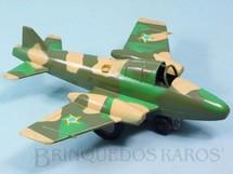 1. Brinquedos antigos - Estrela - Avião Patrulha Aérea com faíscas Versão camuflada com som de metralhadora 19,00 cm de envergadura Ano 1972